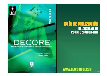 GUÍA DE UTILIZACIÓN - TEA Ediciones