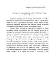 Warszawa, dnia 25 października 2002 r. Opinia prawna dotycząca ...