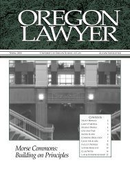 Or Lawyer Spr. 2000 - Oregon Law - University of Oregon