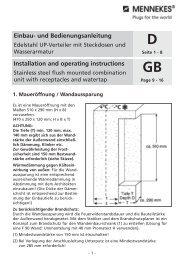 und Bedienungsanleitung Installation and operating ... - Mennekes