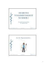 Diabetes Volkskrankheit Nummer 1