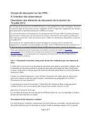 Description des - Normes d'information financière et de certification ...
