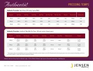 Pressing Temps & Tips - Jensen Dental