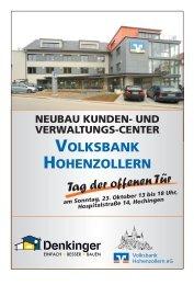 Volksbank Hohenzollern NEUES KUNDEN- U ... - Denkinger GmbH