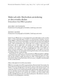 Makt och etik i Skolverkets utvärdering av den svenska skolan