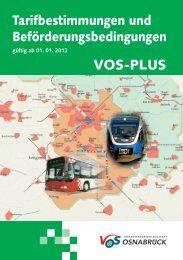Broschüre Inhalt VOSplus 2012.indd - Stadtwerke Osnabrück