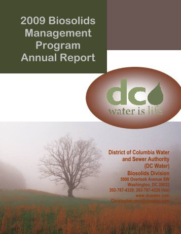 2009 Biosolids Management Program Annual Report - DC Water
