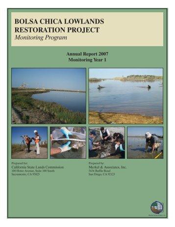 2007 Annual Monitoring Report (pdf 16MB) - Bolsa Chica Lowlands ...