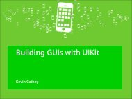 Building GUIs with UIKit