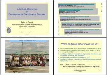 What do group differences tell us?
