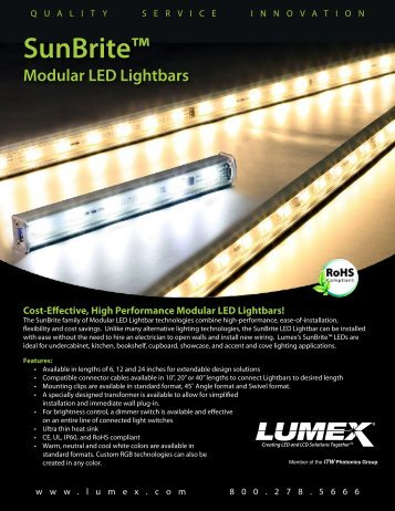 lumex lighting. sunbrite modular led lightbars lumex lighting r