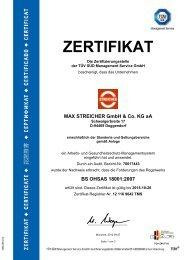 BS OHSAS ISO 18001:2007 - MAX STREICHER