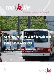 Generationswechsel auf der Schiene! - Braunschweiger Verkehrs-AG