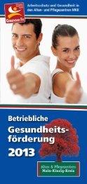 Flyer BGF - Alten- und Pflegezentren des Main-Kinzig-Kreises