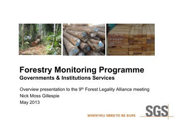 SGS - Forest Legality Alliance