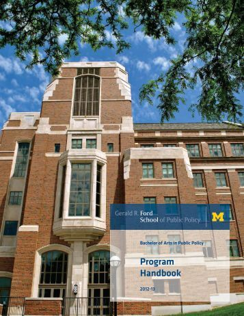 ba student handbook 2012 gerald r ford school of public policy. Cars Review. Best American Auto & Cars Review