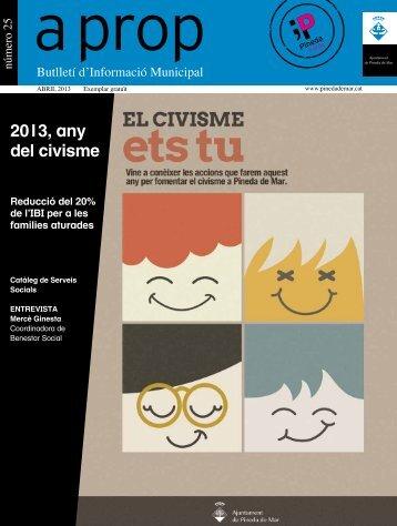 2013, any del civisme - Ajuntament de Pineda de Mar