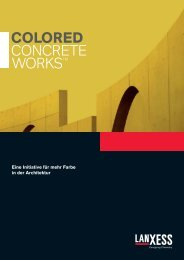 Colored Concrete WorksTM - LANXESS pigments for coloring ...