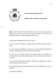 Demande d'autorisation à utiliser le Registre national afin de gérer ...