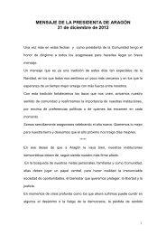 MENSAJE DE LA PRESIDENTA DE ARAGÓN 31 ... - Aragón Digital