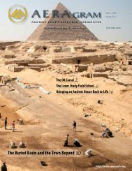 Spring 2011 - Ancient Egypt Research Associates