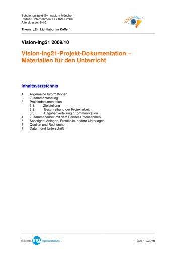 Vision-Ing21-Projekt-Dokumentation – Materialien für den Unterricht