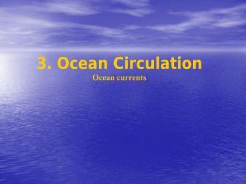 3. Ocean Circulation