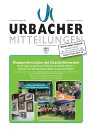 Urbacher Mitteilungsblatt vom 18.07.2013 - Gemeinde Urbach