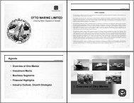 Presentation Slides (4300 KB) - Otto Marine Limited