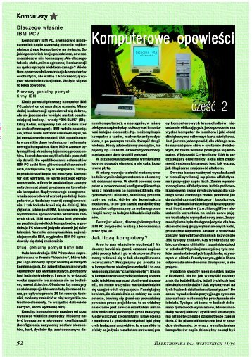 Komputerowe opowieści, cz. 2 (1380KB) - Elportal