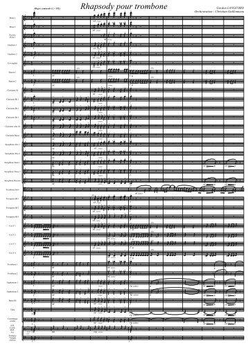 Rhapsody pour trombone - Guillonneau