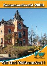 Kommunalwahl 2008 - FREIE WÄHLER / Bürgerverein Weitramsdorf ...
