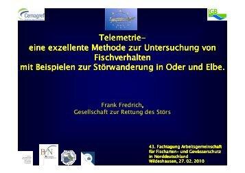 Telemetrie eine exzellente Methode zur ... - Wanderfische