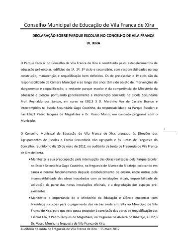 Declaração sobre parque escolar - Câmara Municipal de Vila ...