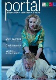 Maria Theresia Friedrich Haider - Slovenské národné divadlo