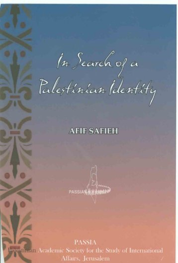 In Search of a Palestinian Identity - PASSIA Online Store