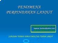 Perpindahan Momentum - Teknik Kimia UNDIP