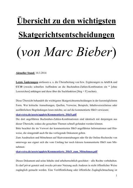 (von Marc Bieber) - Skat-Extra