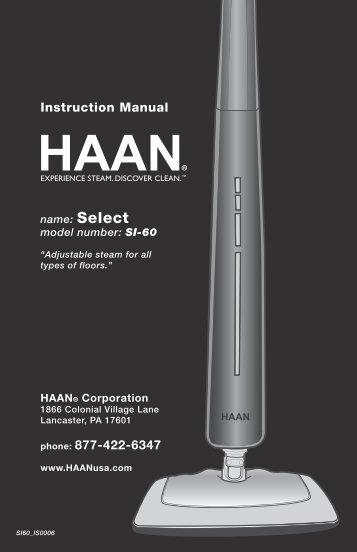 SI60 - HAAN Select User Manual