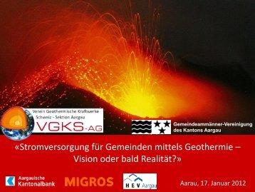 Folie - beim Verein Geothermische Kraftwerke Aargau