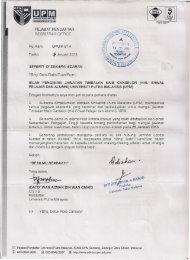 (Hal Ehwal Pelajar & Alumni) Universiti Putra Malaysia (UPM)