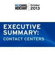 2013 cOntact cEntErS - Multichannel Merchant