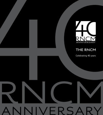 THE RNCM - Royal Northern College of Music