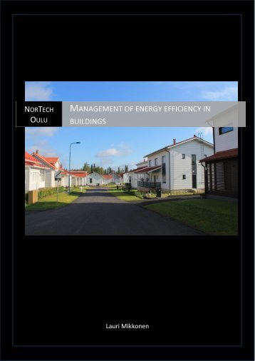 Management of energy efficiency in buildings - NorTech Oulu