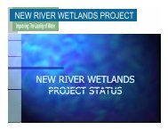 NEW RIVER WETLANDS PROJECT STATUS