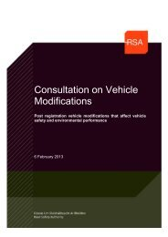 public consultation on Vehicle Modifications - Road Safety Authority