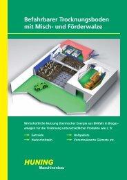 Trocknungsboden - Huning Maschinenbau