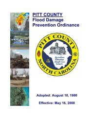 PITT COUNTY Flood Damage Prevention Ordinance