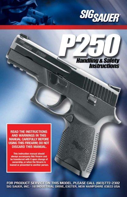 p250 manual qxp - Sig Sauer