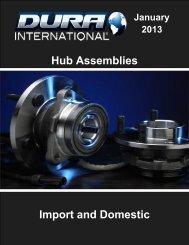 Import and Domestic Hub Assemblies